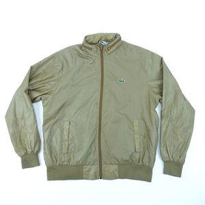 Lacoste Men Sz M Brown Windbreaker Jacket A1713